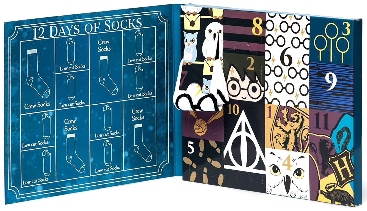 limited edition womens harry potter 12 days of socks set for size 4 10 crew low cut socks at amazon womens clothing store