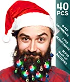 40pcs Christmas Beard Lights Ornaments Glitter Kit 2019 with Jewelry Baubles Beads, Bells, Light Up Bulbs, Best Gifts…