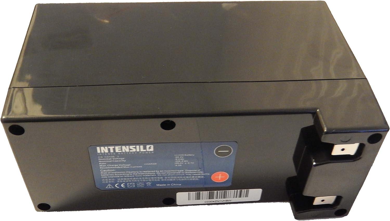 INTENSILO Batería Li-Ion 9000mAh (25.2V) para Robot cortacésped Stiga 1126-9105-01 como Zucchetti CS-C0106-1.