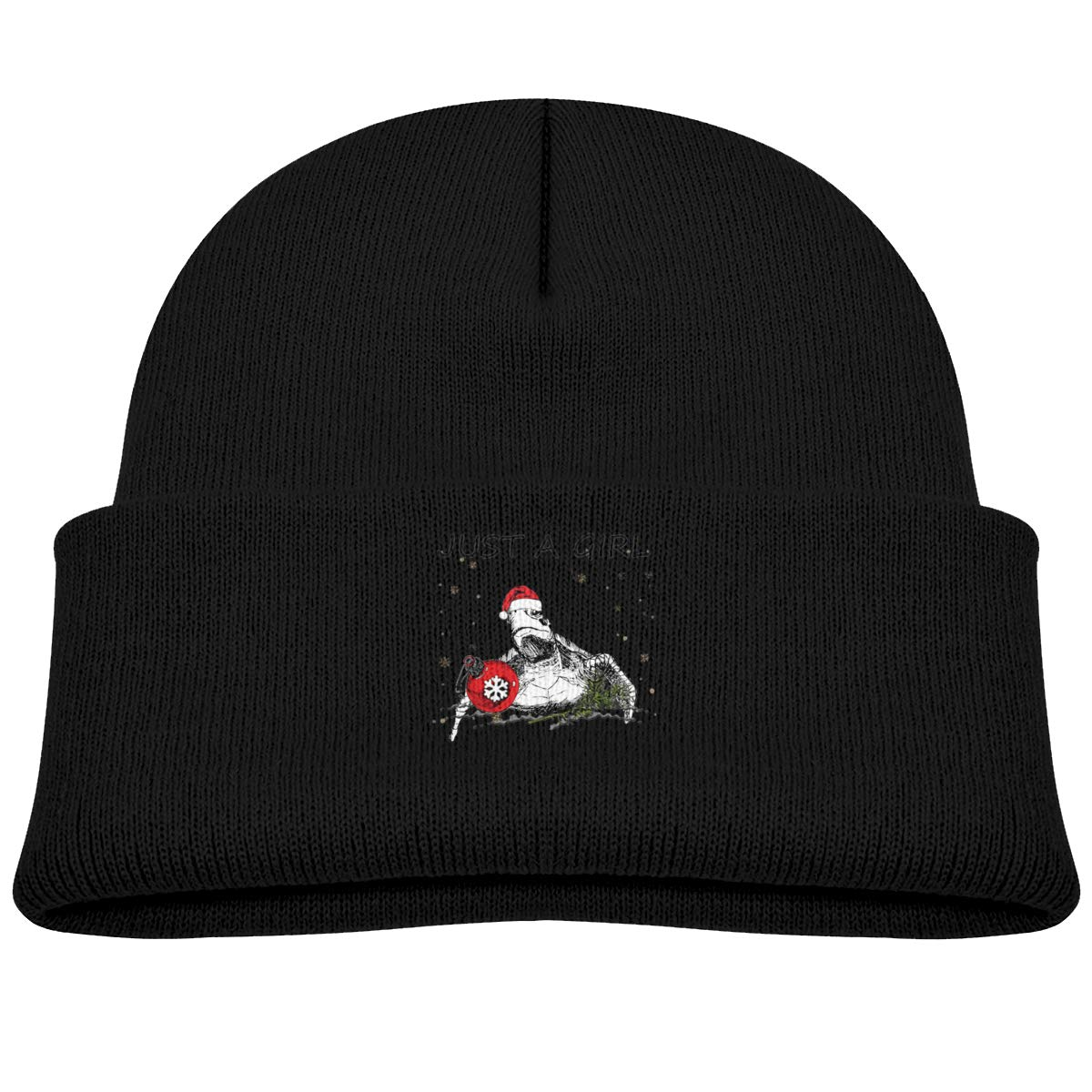 Just A Girl Who Loves Turltes and Christmas Infant Skull Hat Kids Beanie Caps