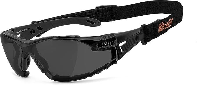 Helly No 1 Bikereyes Bikerbrille Motorrad Sonnenbrille Motorradbrille Beschlagfrei Winddicht Bruchsicher Polster Band Top Tragegefühl Brille Moab 5 Auto