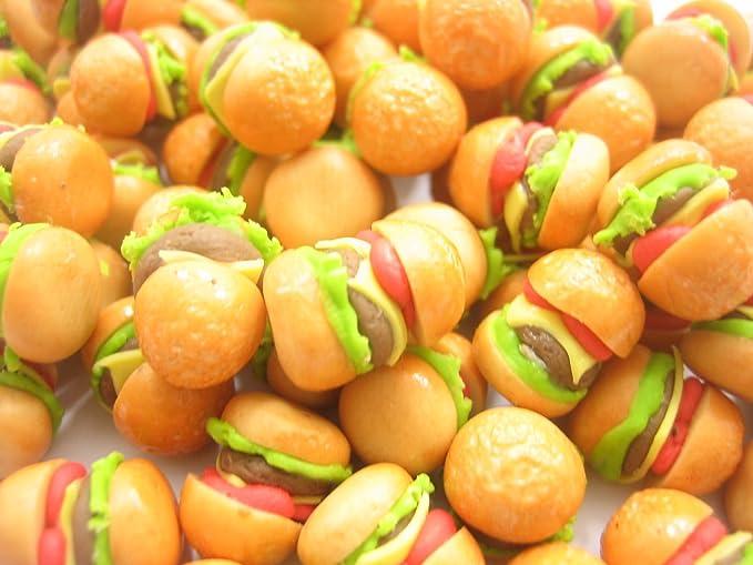 10 Dollhouse Miniature Burgers Doll Mini Tiny Fast Food Hamburger Bakery Bread