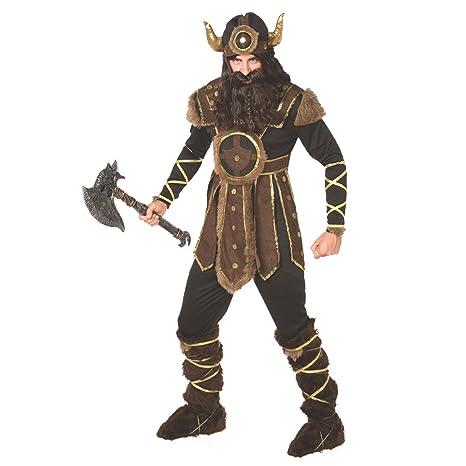 f1053d259adbf Morph Traje Vikingo para Hombre Traje histórico de Calidad para Guerrero  nórdico Valiente para Hombres -