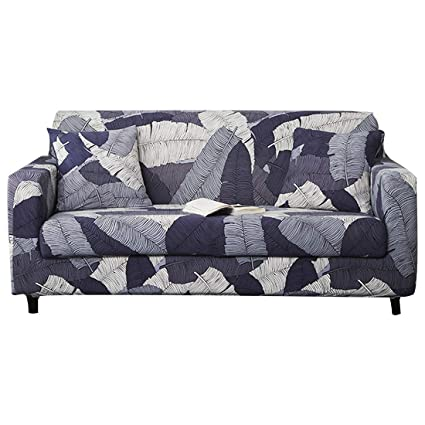 Surprising Forcheer Stretch Sofa Slipcover Printed Pattern 2 Seat Spandex Couch Cover For 3 Cushion Couch 1 Piece Furniture Protector For Living Room Pets Dailytribune Chair Design For Home Dailytribuneorg