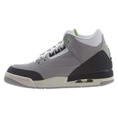6c326ad0a7826 Nike Air Jordan 3 Retro GS [398614-006] Kids Casual Shoes Light  Grey/Chlorophyll/US 7.0Y