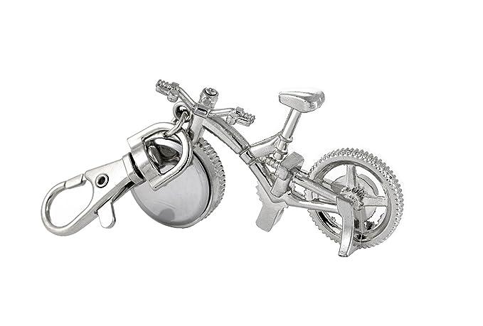 bicicleta de bolsillo llavero reloj de plata fob reloj único ...