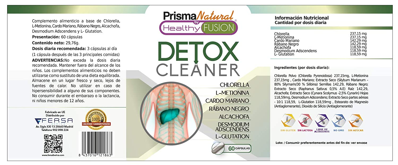 DETOX - Cardo Mariano + Rábano negro + Alcachofa Pura - Drenante y Depurativo - Elimina toxinas e impurezas - Estimula la función digestiva eliminando la ...