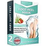 Foot Peel Mask - Strawberry Feet Peeling Mask 2 Pack - Dermatologically Tested, Cracked Heel Repair, Dead Skin Remover for Ba