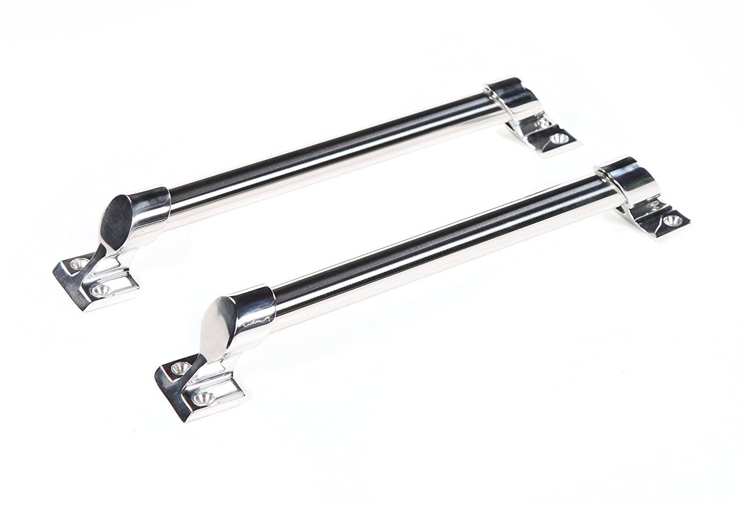 Pack of 2 Perrycraft GH-T15-S 15 Stainless Steel Traditional Style Grab Handle,