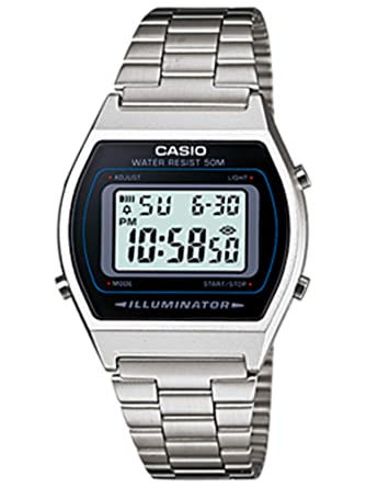 4f19f2544874 Relógio Unissex Digital Casio B640WD-1AVDF - Prata  Amazon.com.br ...