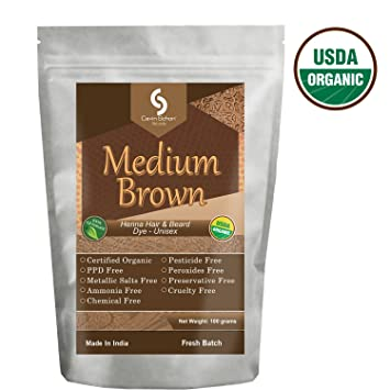Amazon Com Cavin Schon Usda Certified Organic Medium Brown Henna
