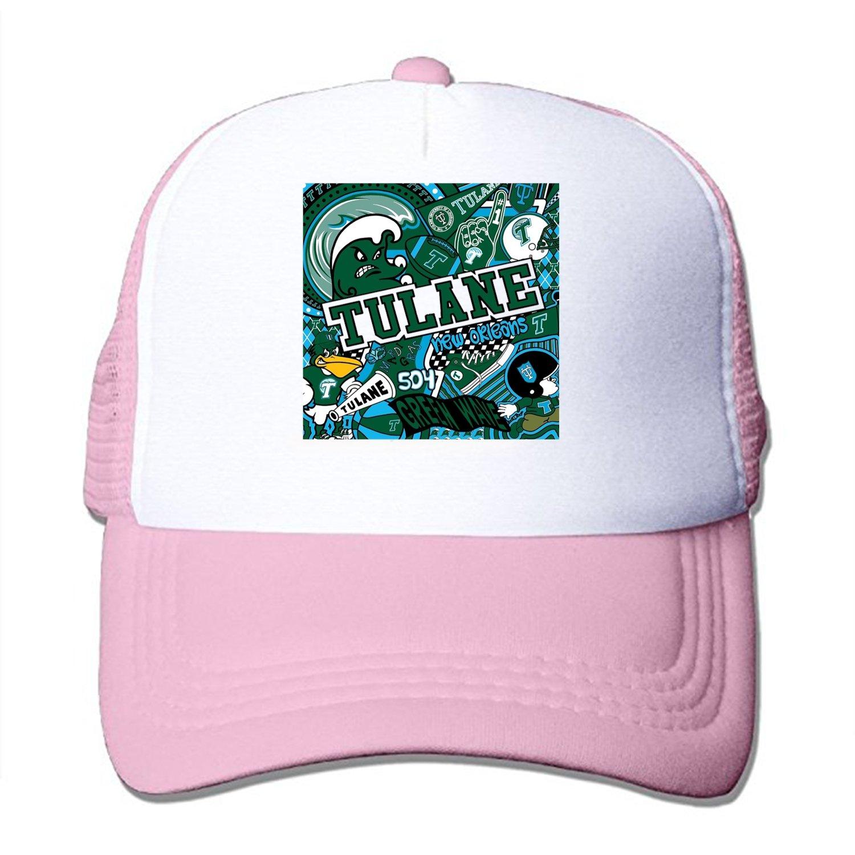aee37d7e486c0 ... italy tulane collage mesh back trucker cap low profile adjustable  snapback hat at amazon mens clothing