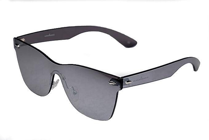 5b05b357007 amoloma Framelaess Rimless Sunglasses wayfarer Style silver mirrored  Amazon .co.uk  Clothing