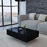 Unfade Memory Modern Elegant MDF High Gloss Coffee Table Side Table 85 x 55 x 31 cm