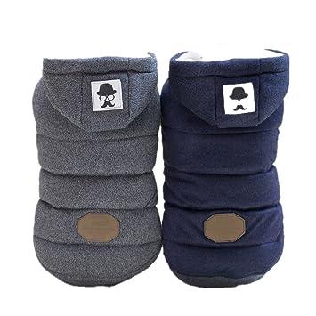 5a110b179becb ANNIMOS 犬 服 冬 ダウン 風 ジャケット 帽子 ノースリーブタイプ 小型犬 中型犬 裏ボア
