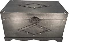 Styled Shopping Jamestown Chest Wooden Steamer Trunk - Large Trunk Black
