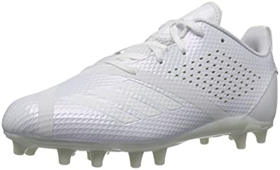 best service 53055 aa60f adidas Boys  Adizero 5.5 Star 7.0 Football Shoe, White, 1 M US Little