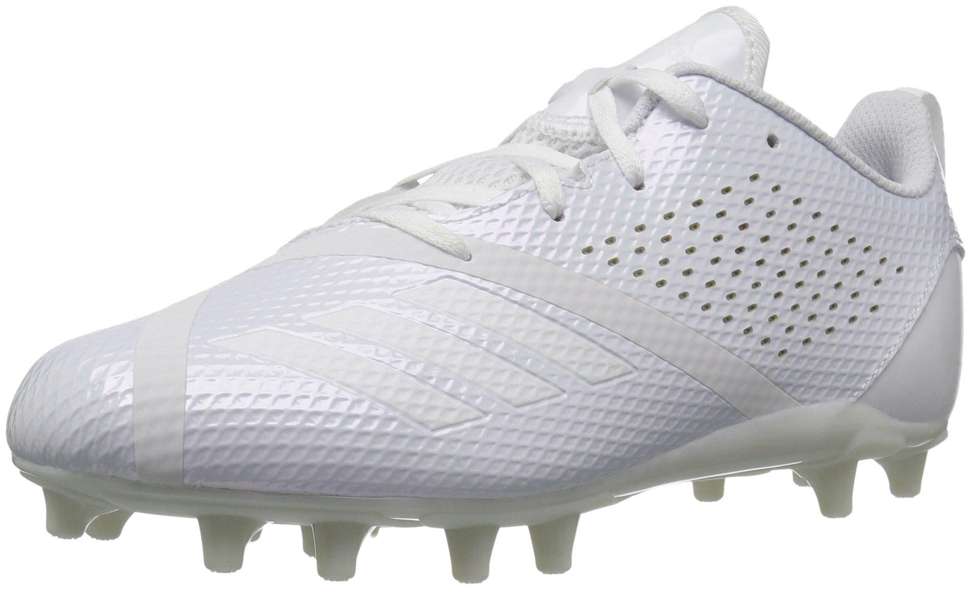 adidas Boys' Adizero 5.5 Star 7.0 Football Shoe, White, 2 M US Little Kid