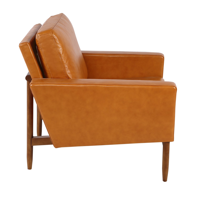 Swell Kardiel Stilt Danish Mod Chair Premium Tan Aniline Leather Walnut Caraccident5 Cool Chair Designs And Ideas Caraccident5Info