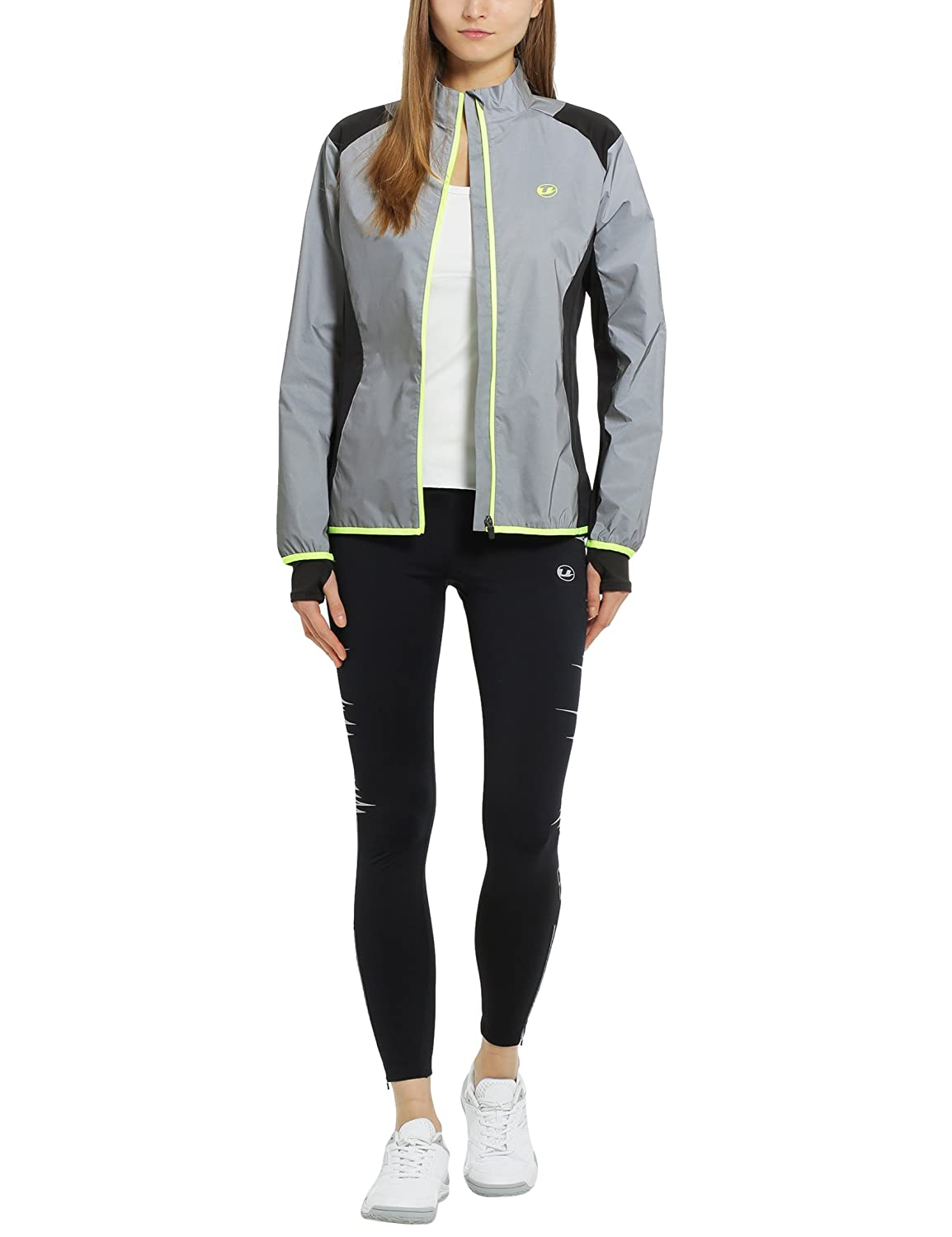 01a31c76fdcb8 Ultrasport Women's Ultra Visible Running and Biking Jacket-Black, X-Large,  XL: Amazon.co.uk: Sports & Outdoors