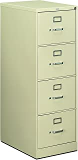 product image for HON 4-Drawer Legal File - Full-Suspension Filing Cabinet with Lock, 52 by 25-Inch Putty (H514)