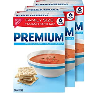 Premium Saltine Crackers, Family Size - 3 Boxes