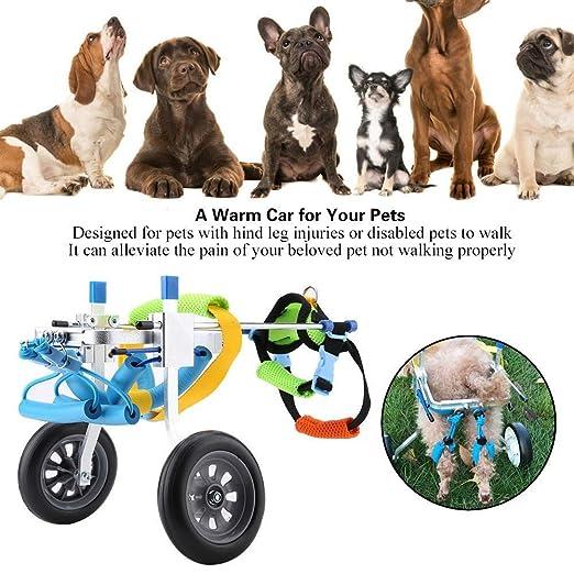 BEST WALKING Scooter para Mascotas Ajustable Ortopedico Silla De ...