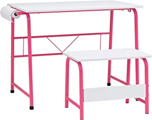 SD STUDIO DESIGNS Homeroom Task Center, Pink/White