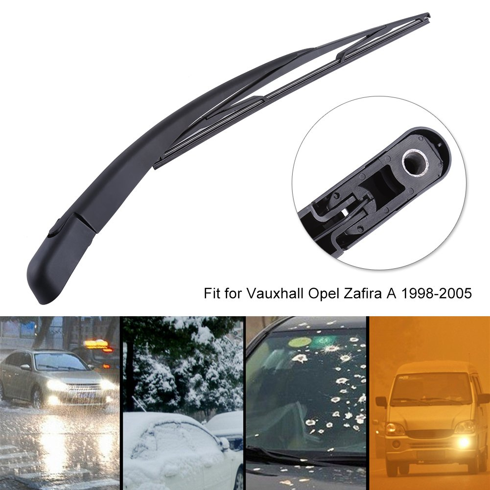 Hlyjoon Windshield Wiper Car Vehicle Rear Windshield Wiper Arm /& Blade Kit Replacement for Vauxhall Opel Zafira A 1998 1999 2001 2002 2003 2004 2005