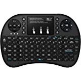 (Updated 2017,Backlit) Rii i8+ 2.4GHz Mini Wireless Keyboard with Touchpad Mouse, LED Backlit, Rechargable Li-ion Battery