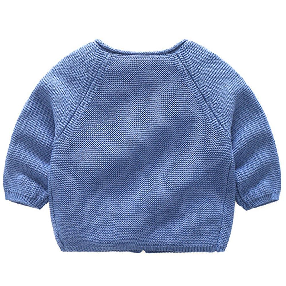 LJYH Toddler Boys Girls Crew Neck Cardigan Kids Knitted Sweater