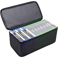 Sisma Video Games Organizer for Xbox One PS5 PS4 Game Disc, Holds Around 23 - 27 Games, Home Games Storage Bag Portable…