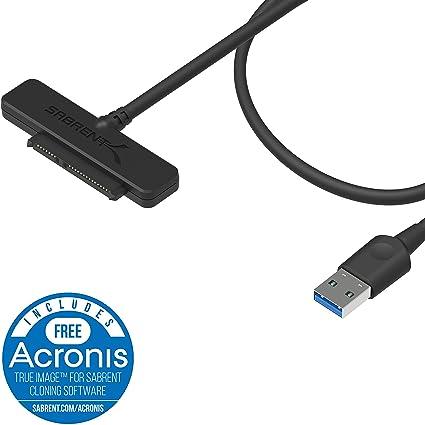 Sabrent USB 3.0 to SSD / 2.5-Inch SATA I/II/IIIHard Drive Adapter (EC-SSHD)