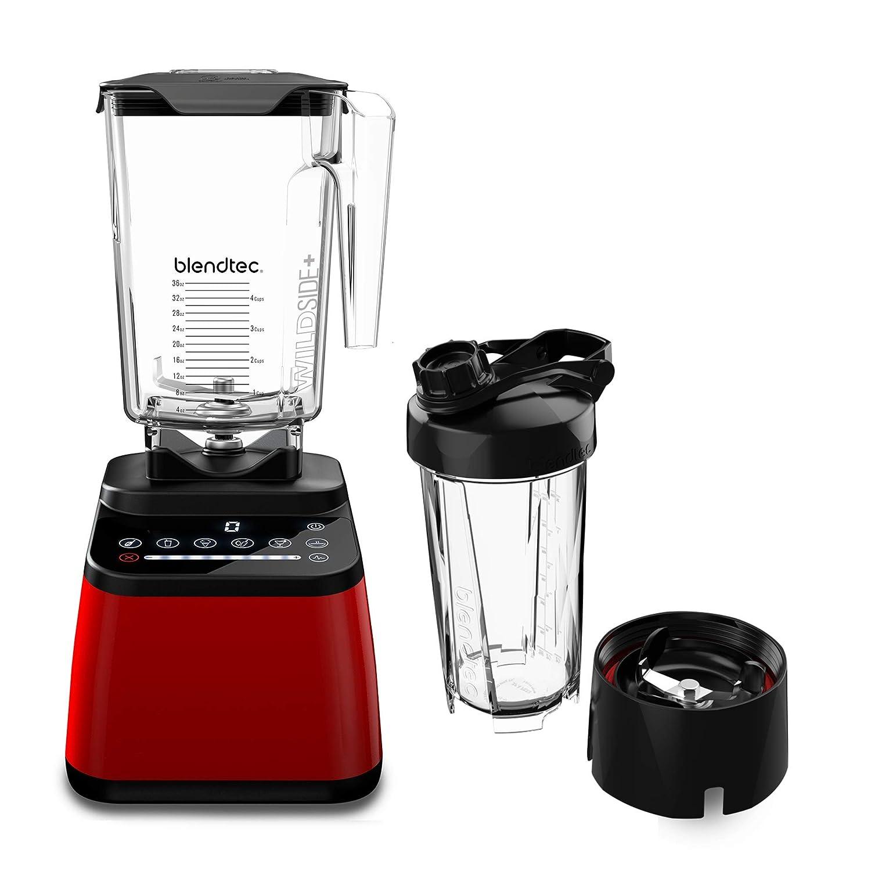 Blendtec DD28PA04A-A1AP1D8 Designer Series Countertop Blender, WildSide+ 90 oz, Go Travel Bottle 34 oz, Red Jar