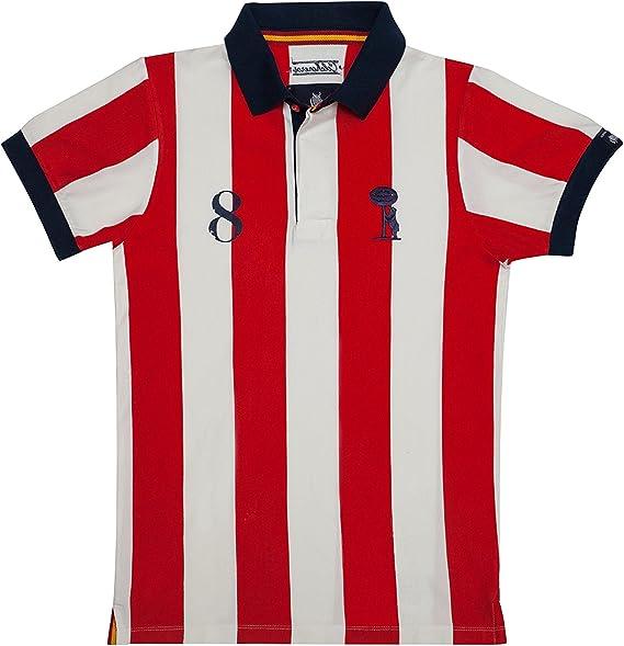 Coolligan - Polo de Fútbol Retro 1903 Colchoneros - Color - Rojo ...