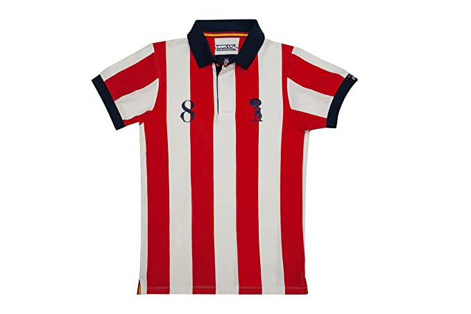 Coolligan - Polo de Fútbol Retro 1903 Colchoneros - Color - Rojo - Talla - XXS
