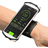 Sports Armband Universal fit for iPhone 7Plus/6S/6/5S,VUP 180°Rotating Sweatproof Wristband Fits up 4''to 5.5'' Phones for Running,Cycling,Workouts or any Fitness Activity Secure fit Stretchable Lycra