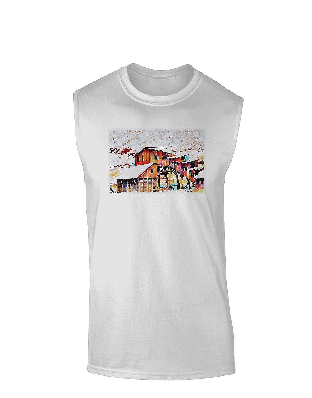 TooLoud Mine Scene Colorado Watercolor Muscle Shirt