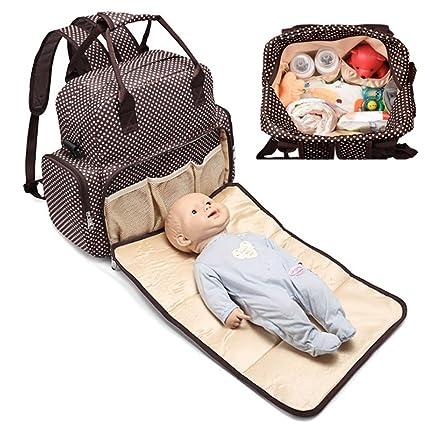 Multifuncional Mochilas Cambiador Pañales para Bebe, para Usar Fuera de Casa,Camping o al