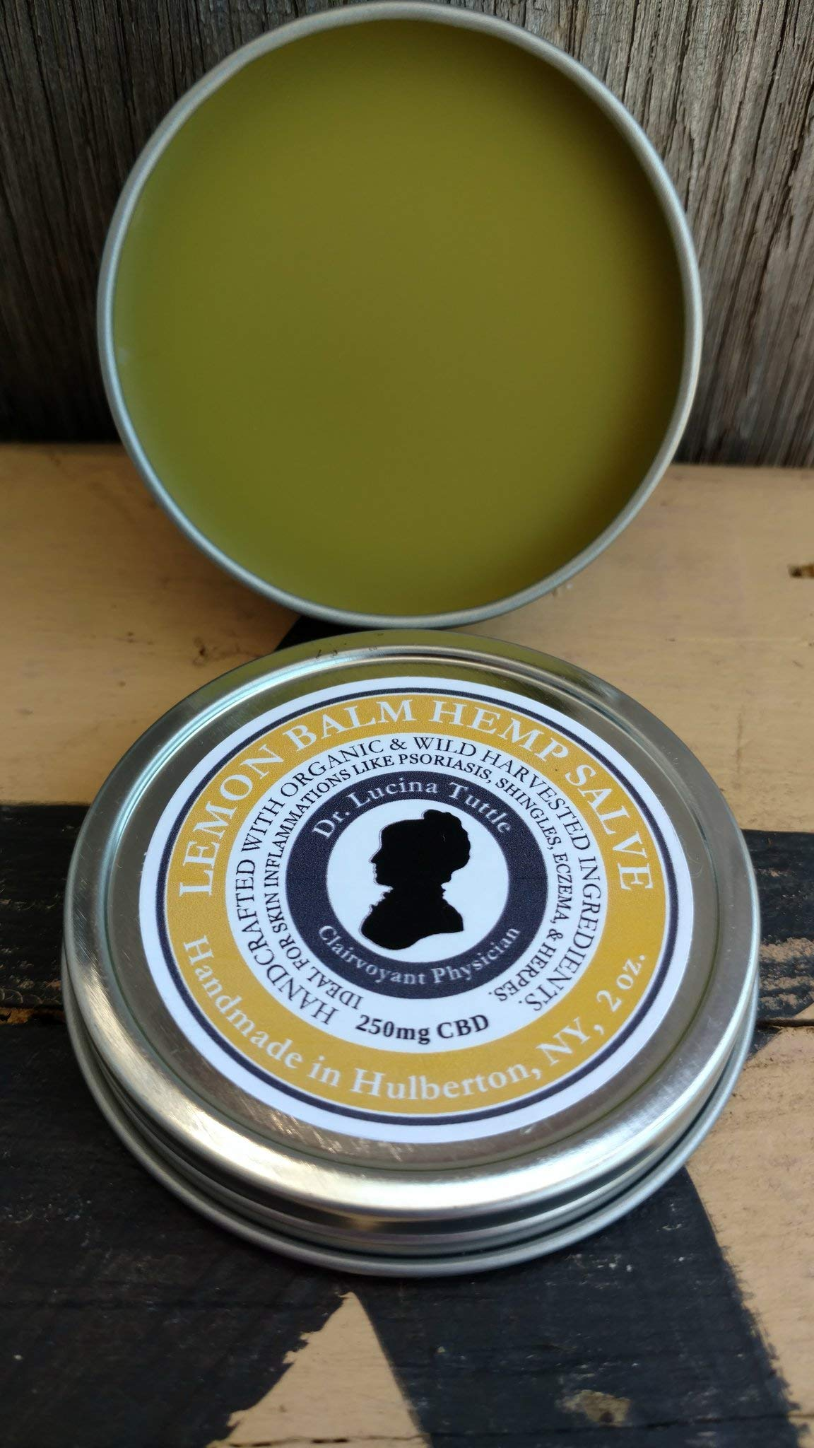 Dr. Tuttle's Lemon Balm Hemp Extract Salve Full Spectrum 2oz 200mg