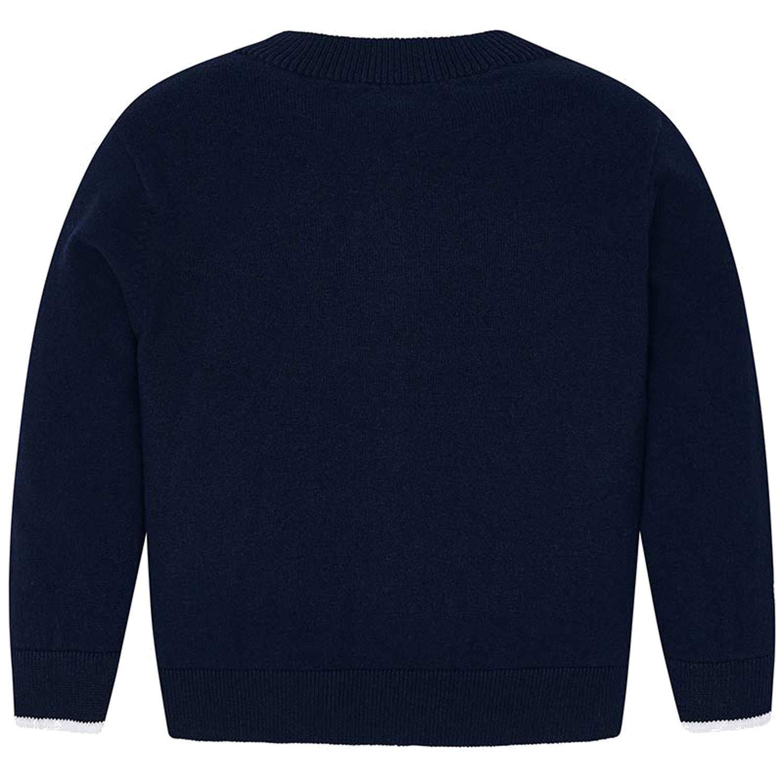 Jungen Festliche Strickjacke Sweatjacke einfarbig Mayoral 324db dunkelblau