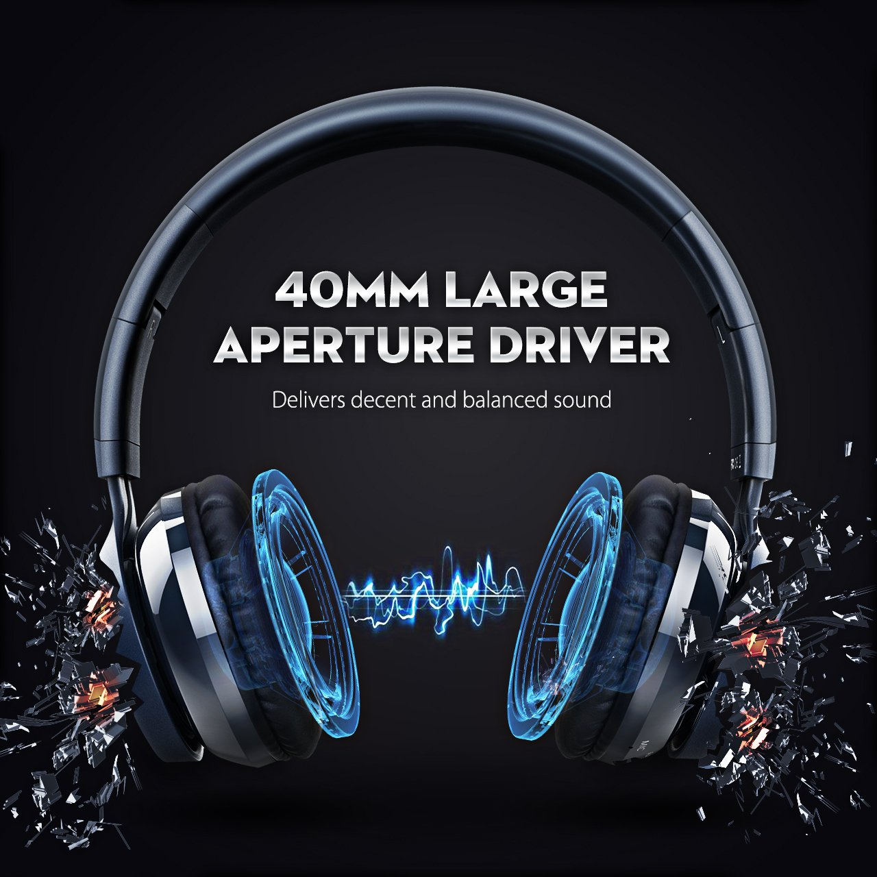 308d090a522 Mpow Thor Bluetooth Headphones On Ear Wired and Wireless Headphones for  Cell Phone/TV/PC PAMPBH036BD-USAA1 40mm Driver Wireless Headset Foldable  with Mic