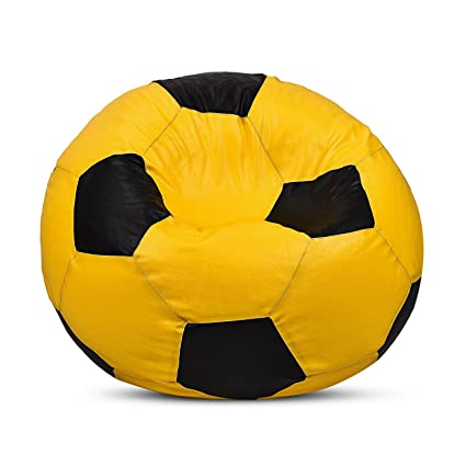 CADDYFULL XXL Football Bean Bag Without Beans  Yellow and Black