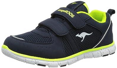 KangaROOS Unisex-Kinder Chinu EV 3 Sneaker, Blau (Dk Navy/Lime), 28 EU