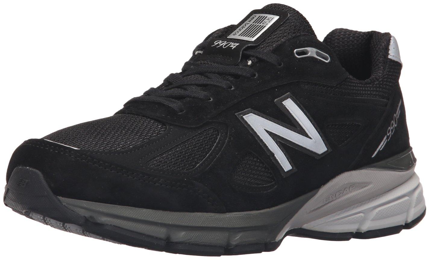 New Balance Men's M990BK4 Running Shoe, Black/Silver, 10.5 D US