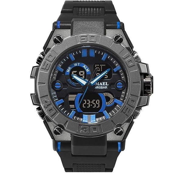 Daesar Reloj Deporte al Aire Libre Reloj Deportivo Reloj Impermeable Reloj de Doble Pantalla Reloj Hombre Luminoso Reloj Militar Reloj Multifunción Reloj ...