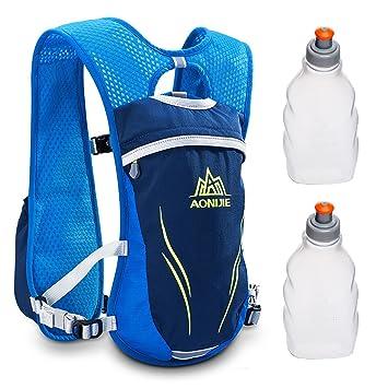 Geila Outdoors Sport Trail Marathoner Running Race Mochila de mochila de hidratación con 2 botellas de agua (azul): Amazon.es: Deportes y aire libre
