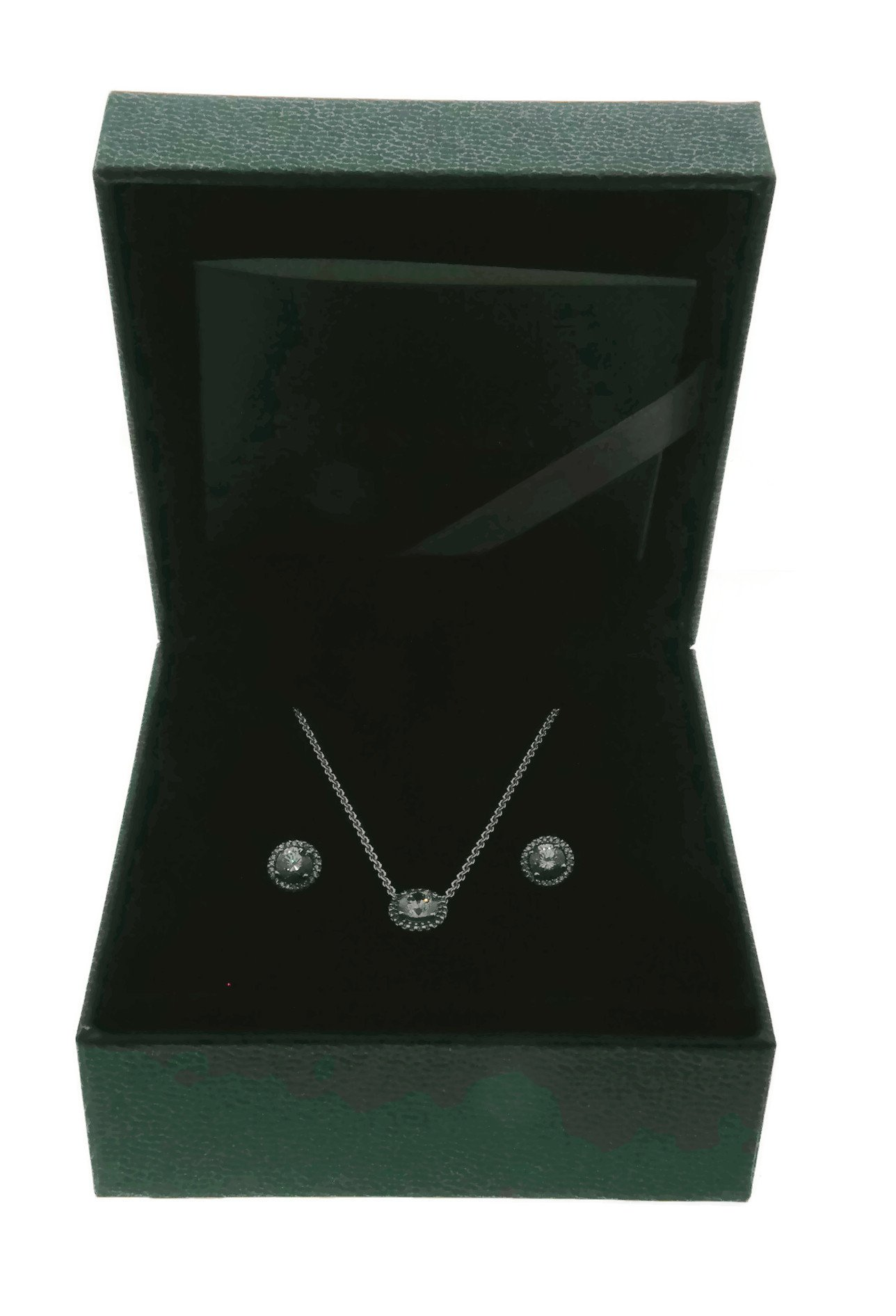 PANDORA Classic Elegance Jewelry Gift Set, Necklace & Earrings, Clear CZ B800645