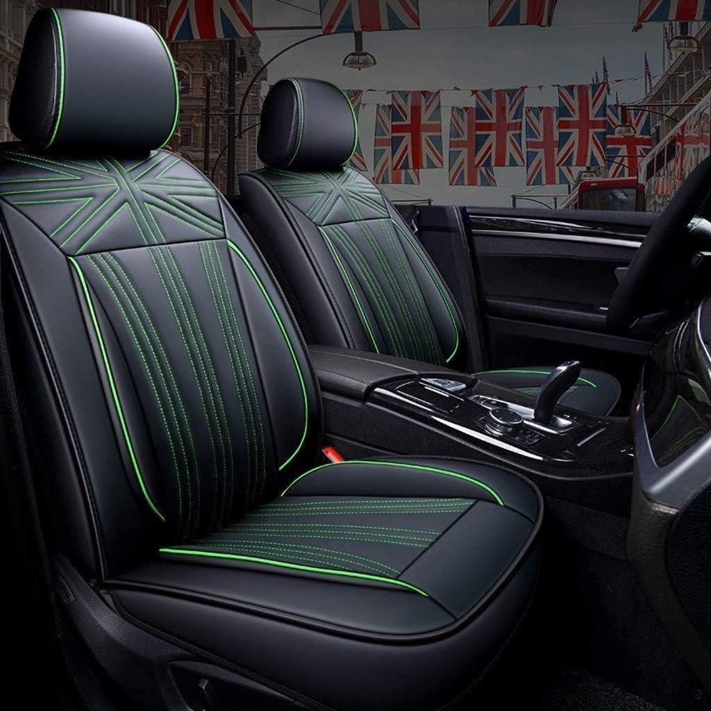 GOG Plegable multifunción portátil plegable cesta de la compra, los asientos del coche cover set, 5-asiento de coche universal amortiguador de asiento para carros delantero y trasero, Cuero completo,