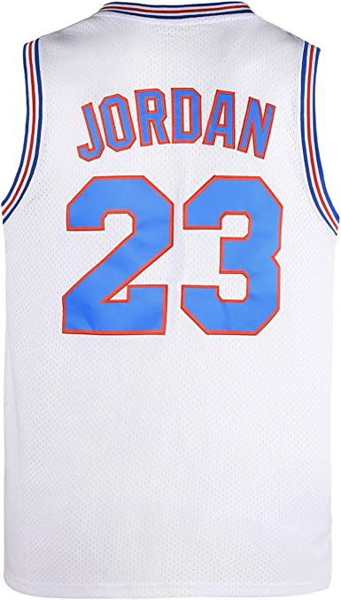 CAIYOO 23# Space Movie Jersey de baloncesto Jersey S-3XL blanco//negro//azul